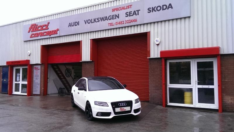 Audi s4 @ Ricci concept white
