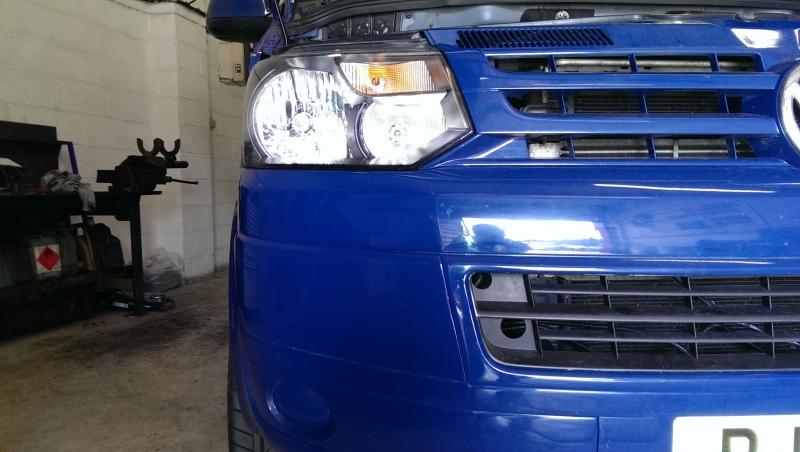 VW T5 before Daytime running light kit