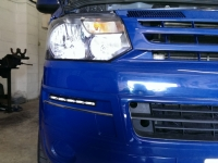 VW T5 after daytime running light kit fitted