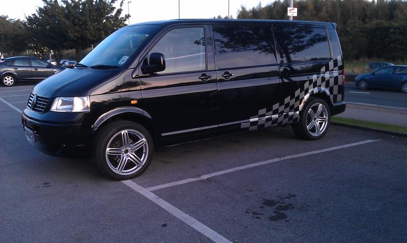 vw T5 van with 20 wheels @ ricci concept